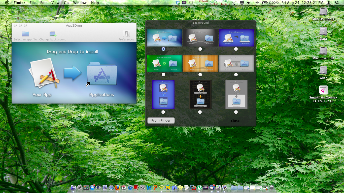 Mac App Using Tool Convert app to dmg On Mac Lion 1074 [Hackintosh 1366x768