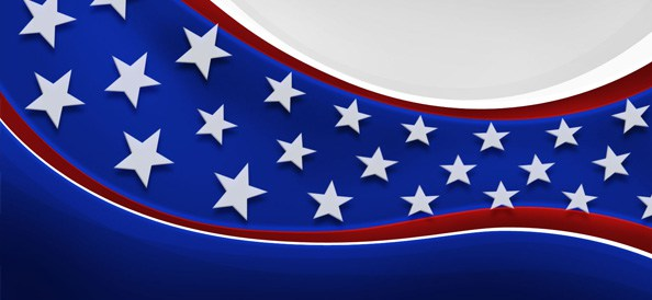 American Patriotic Background   Web Backgrounds 594x274
