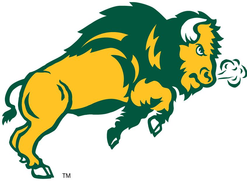 North Dakota State Bison Secondary Logo 2006   Bison trotting 847x620