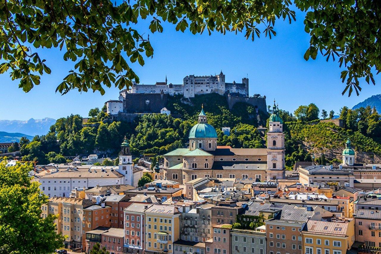 Images Salzburg Austria Fortification Hohensalzburg Castle 1280x853
