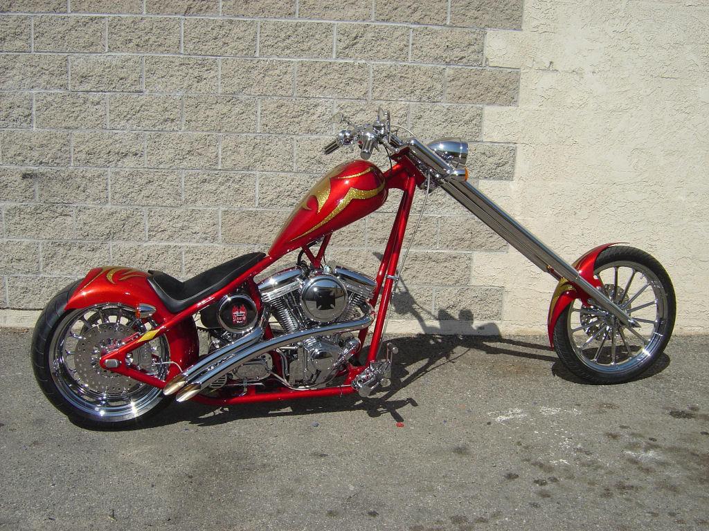 Chopper Custom Moto Wallpaper 1024x768