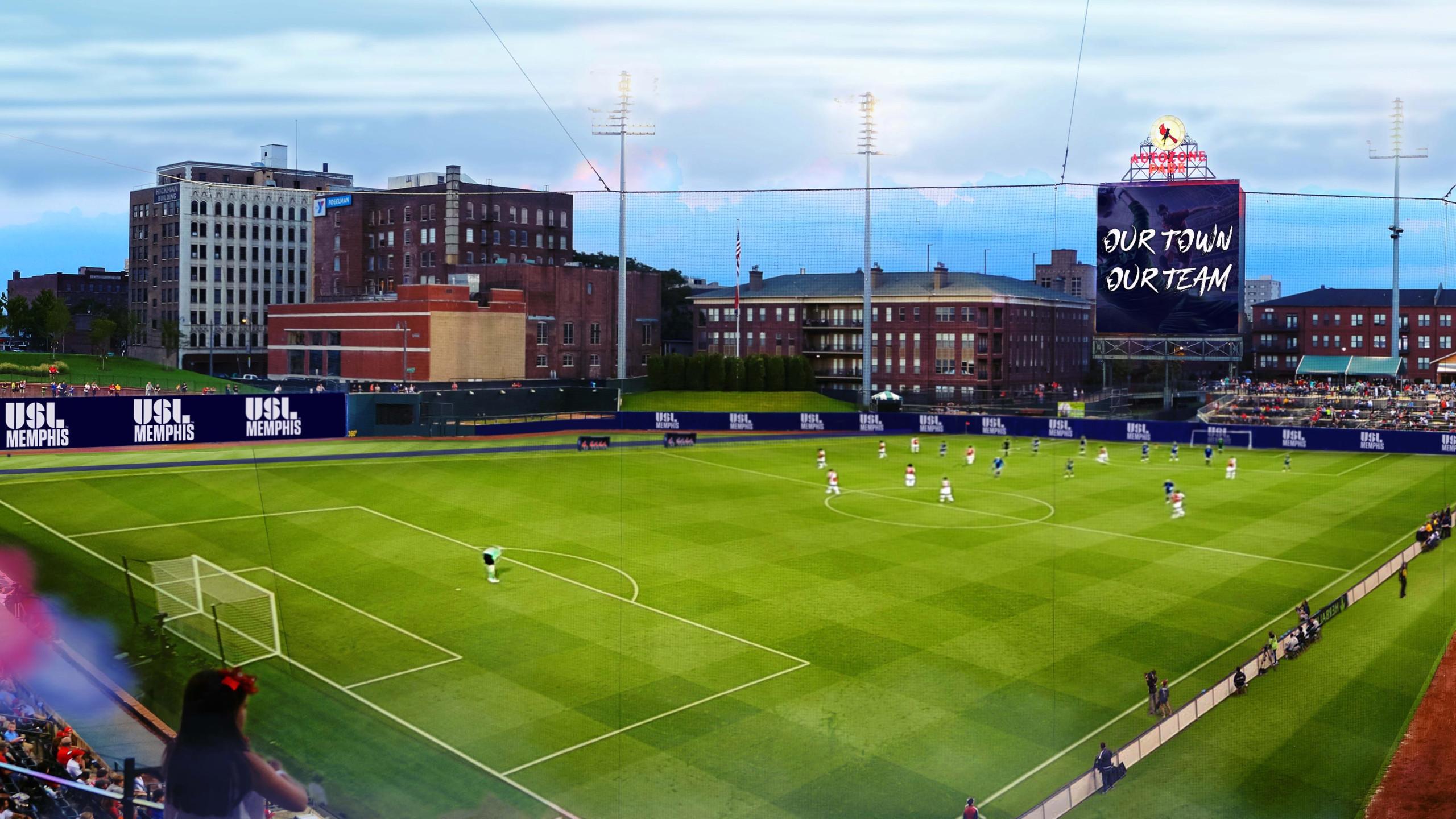 New United Soccer League Team Unveiled At AutoZone Park 2560x1440