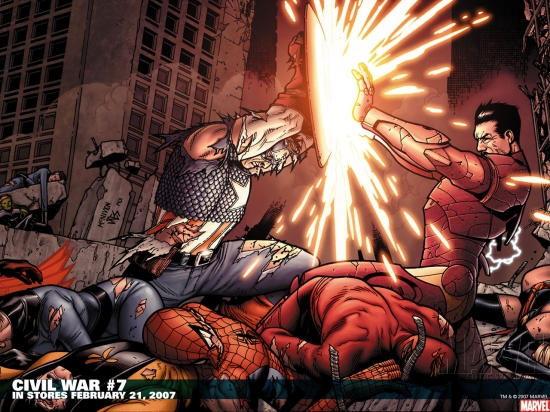 Civil War 2006 7 Wallpaper Civil War Wallpapers Apps Marvel 550x412