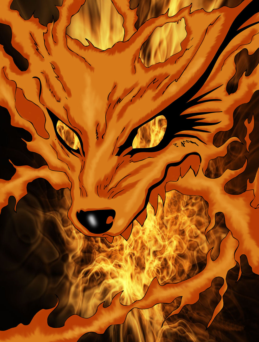 39 Nine Tails Hd Wallpaper On Wallpapersafari