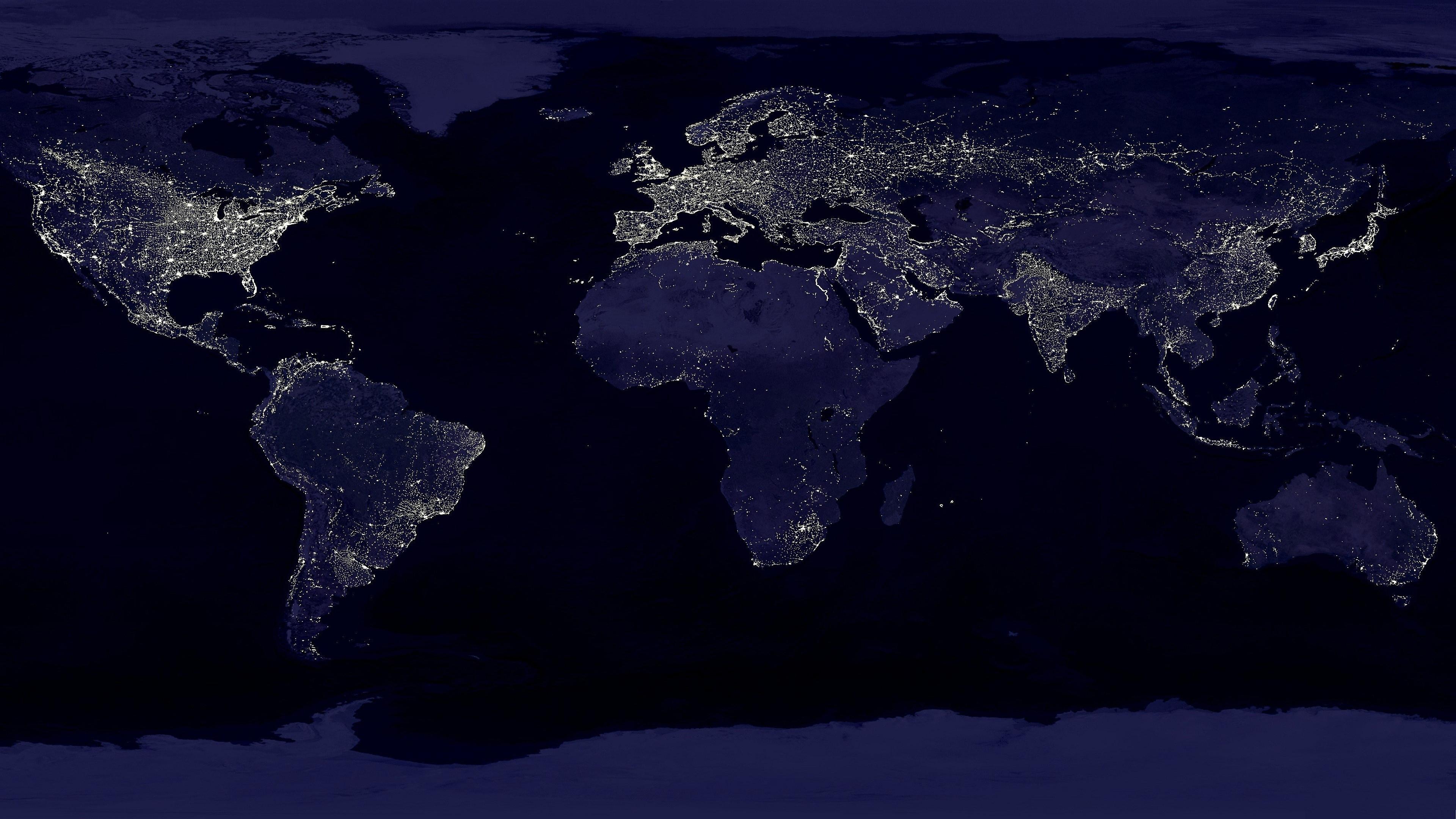 Earth At Night [3840x2160] iimgurcom 3840x2160