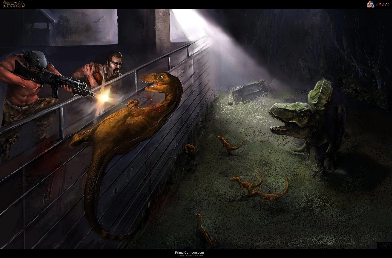 PRIMAL CARNAGE fantasy dinosaur y JPG wallpaper 3000x1976 169032 3000x1976