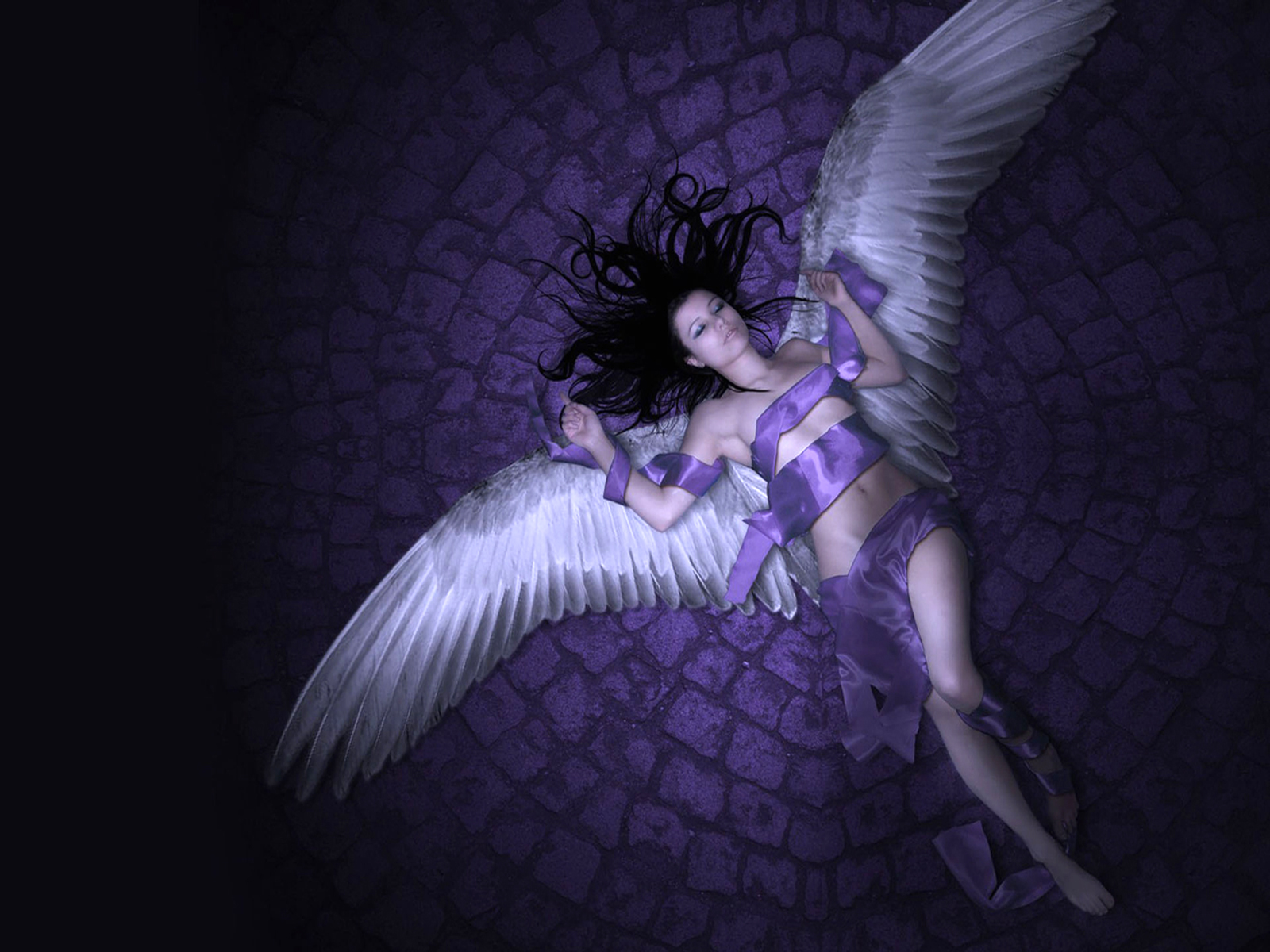 free download wallpapers angeles fantasy fallen angel hd 1600x1200