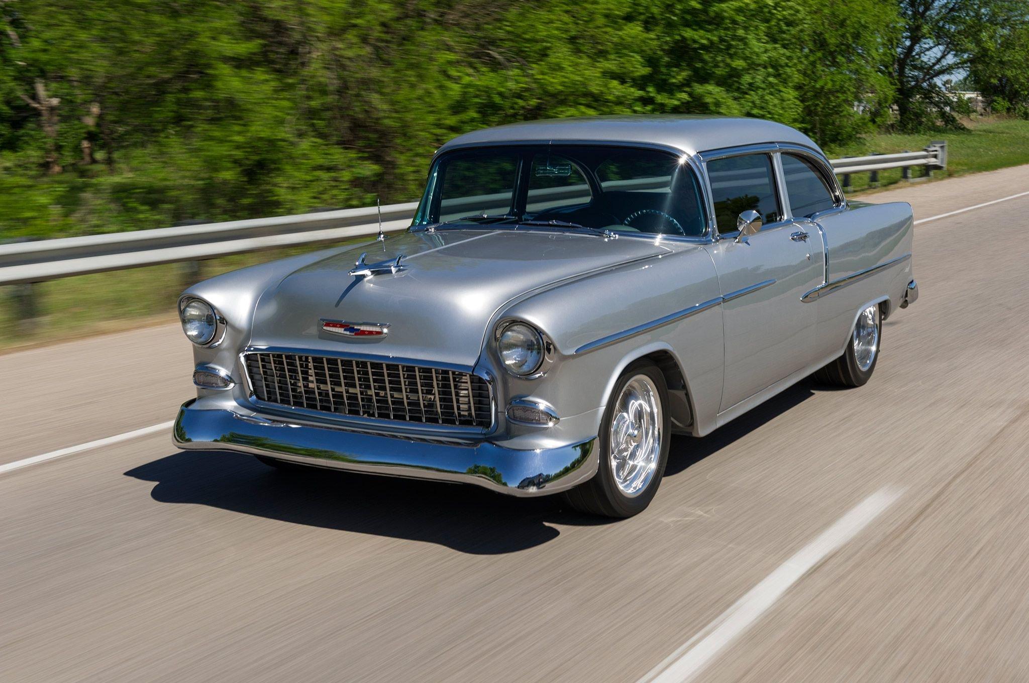 1955 Chevrolet Chevy Bel Air Streetrod Street Rod Cruiser USA 2048x1360