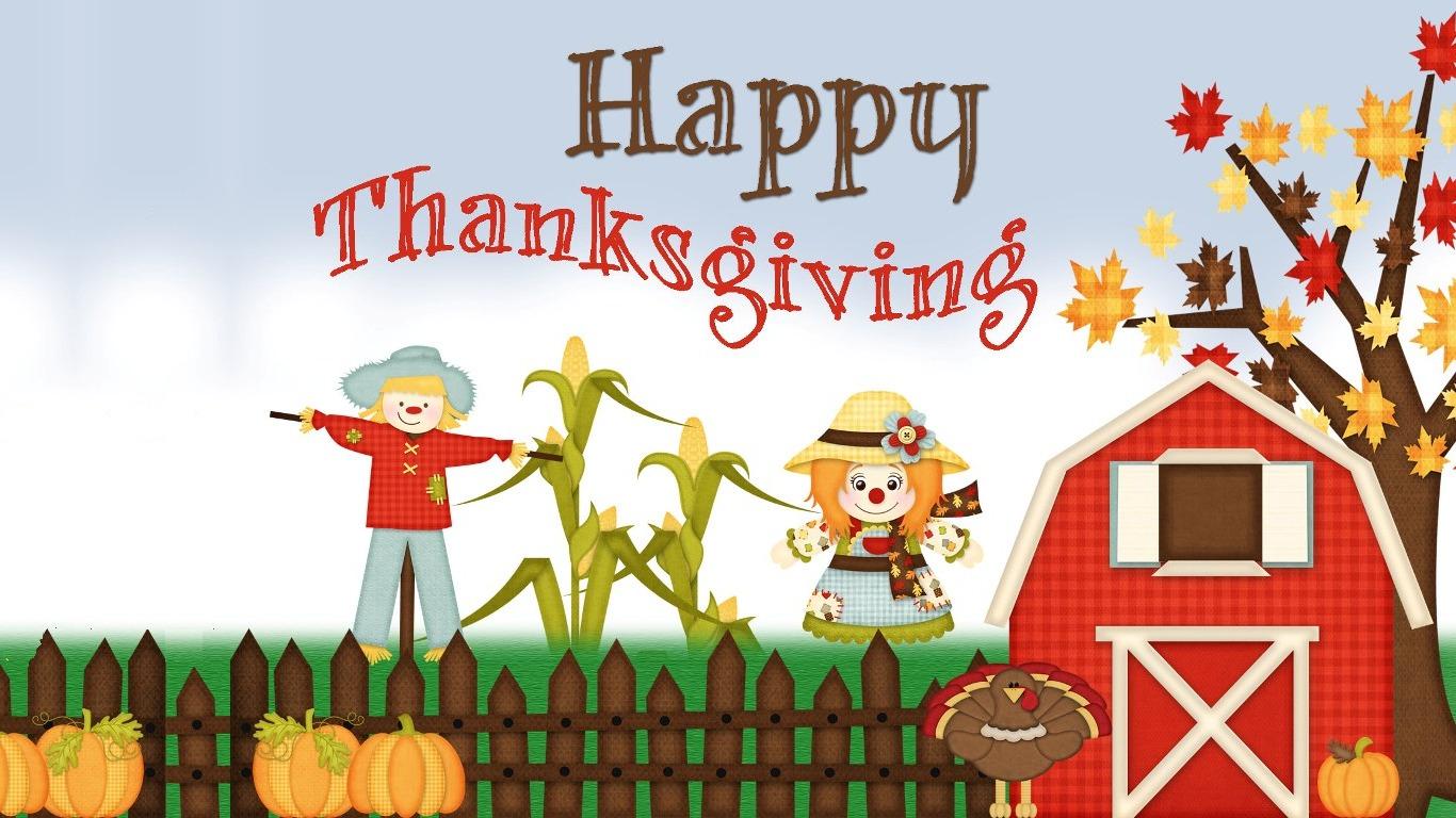 Funny Thanksgiving Desktop Wallpaper wallpaper 1366x768