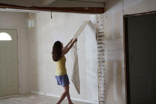 removing wallpaper 500x333