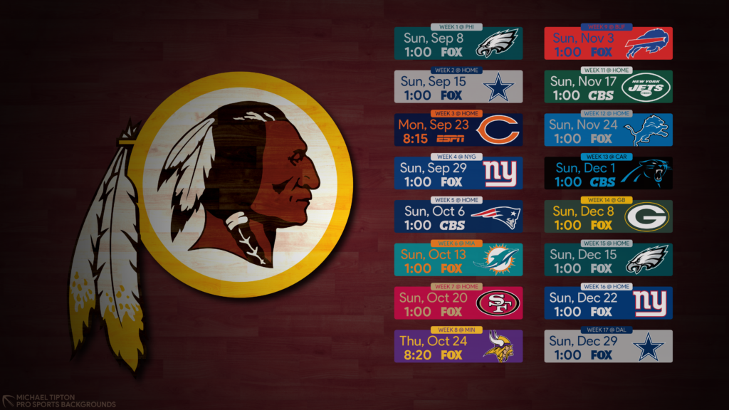 Washington Redskins Desktop Wallpaper posted by Zoey Thompson 1024x576