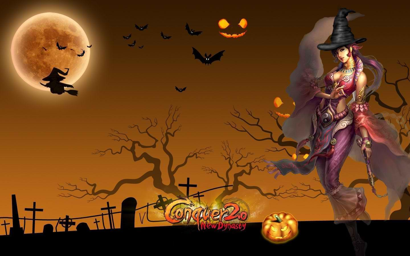 Photo Collection Halloween Witch Wallpaper Resolution 1440 X 900