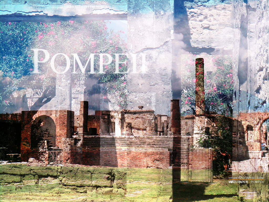 Pompeii Wallpaper My photo collage of ancient Pompeii stre Flickr 1024x768