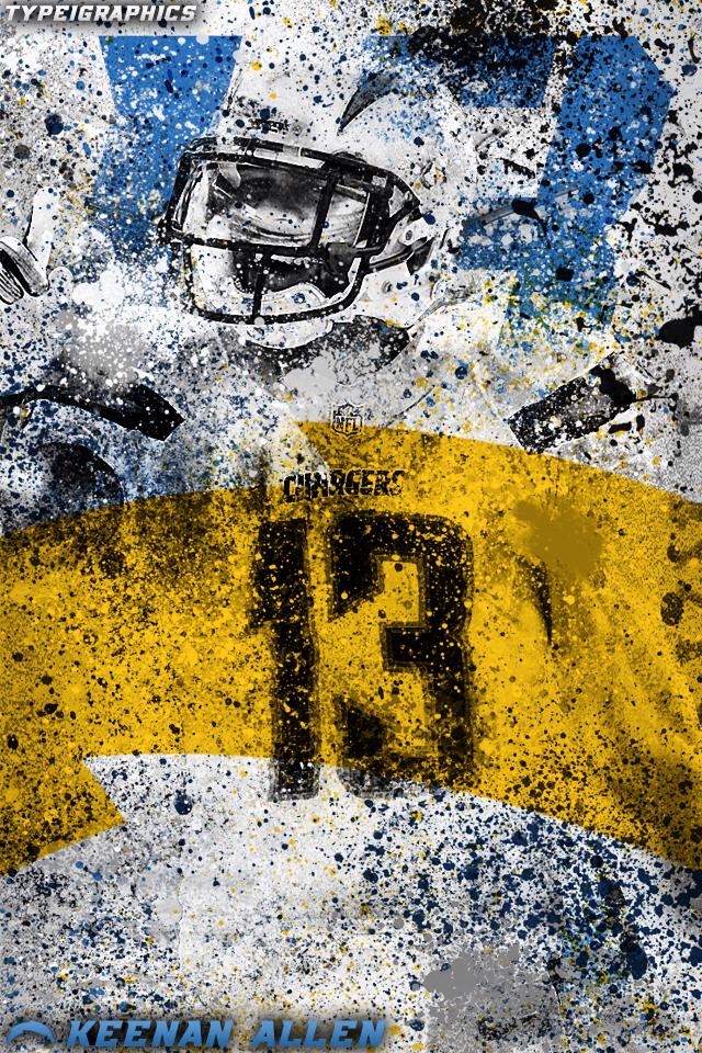 Keenan Allen Wallpaper on Behance 640x960