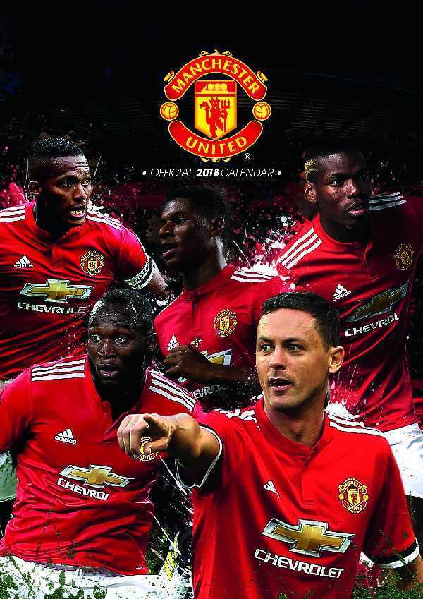 Manchester United Football Club Official 2018 A3 Wall 600x849