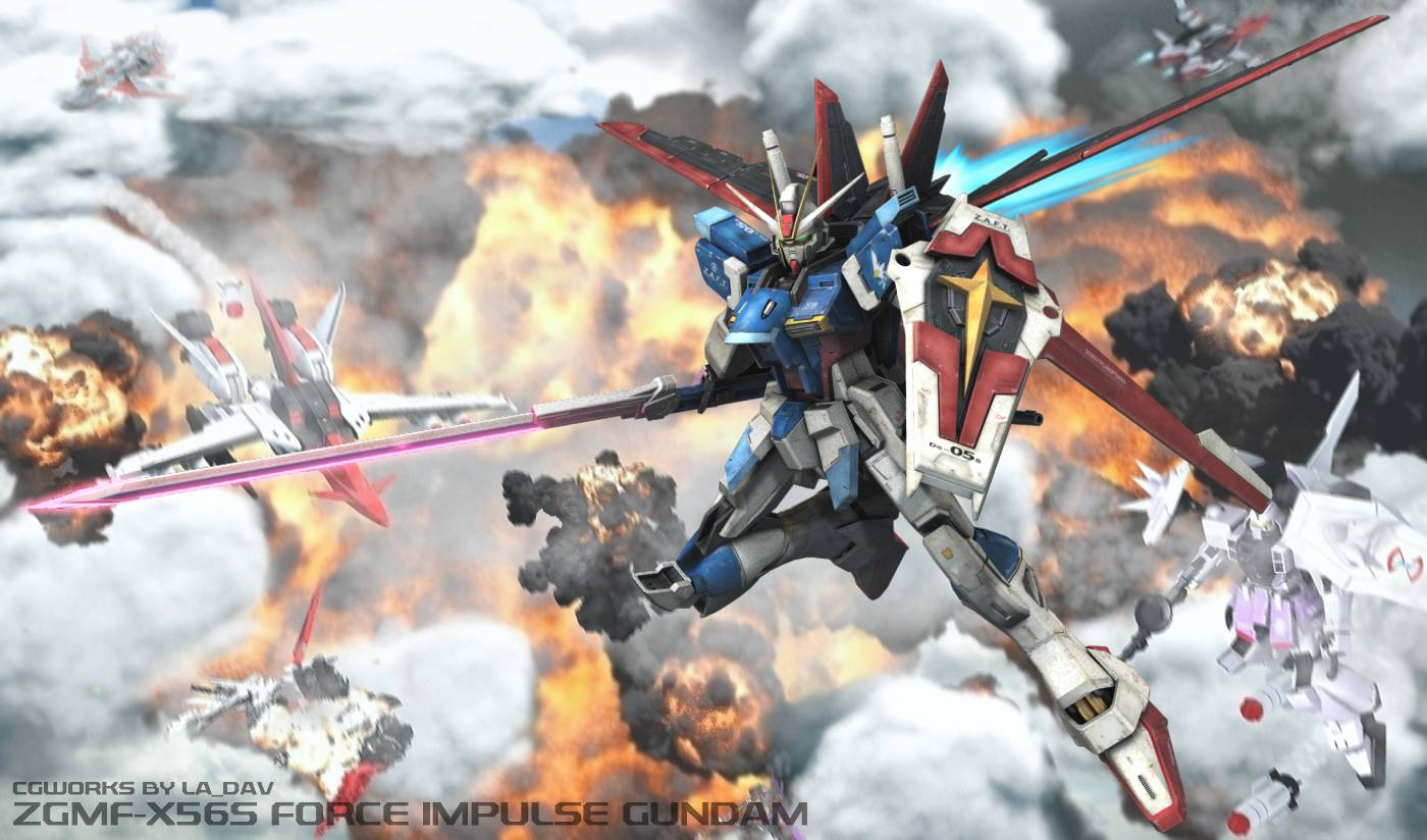 Force Impulse Gundam   Gundam Seed Wallpaper 1400x824