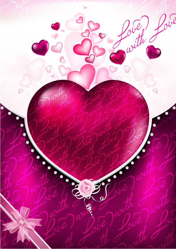 Valentines Background Vector 601x850