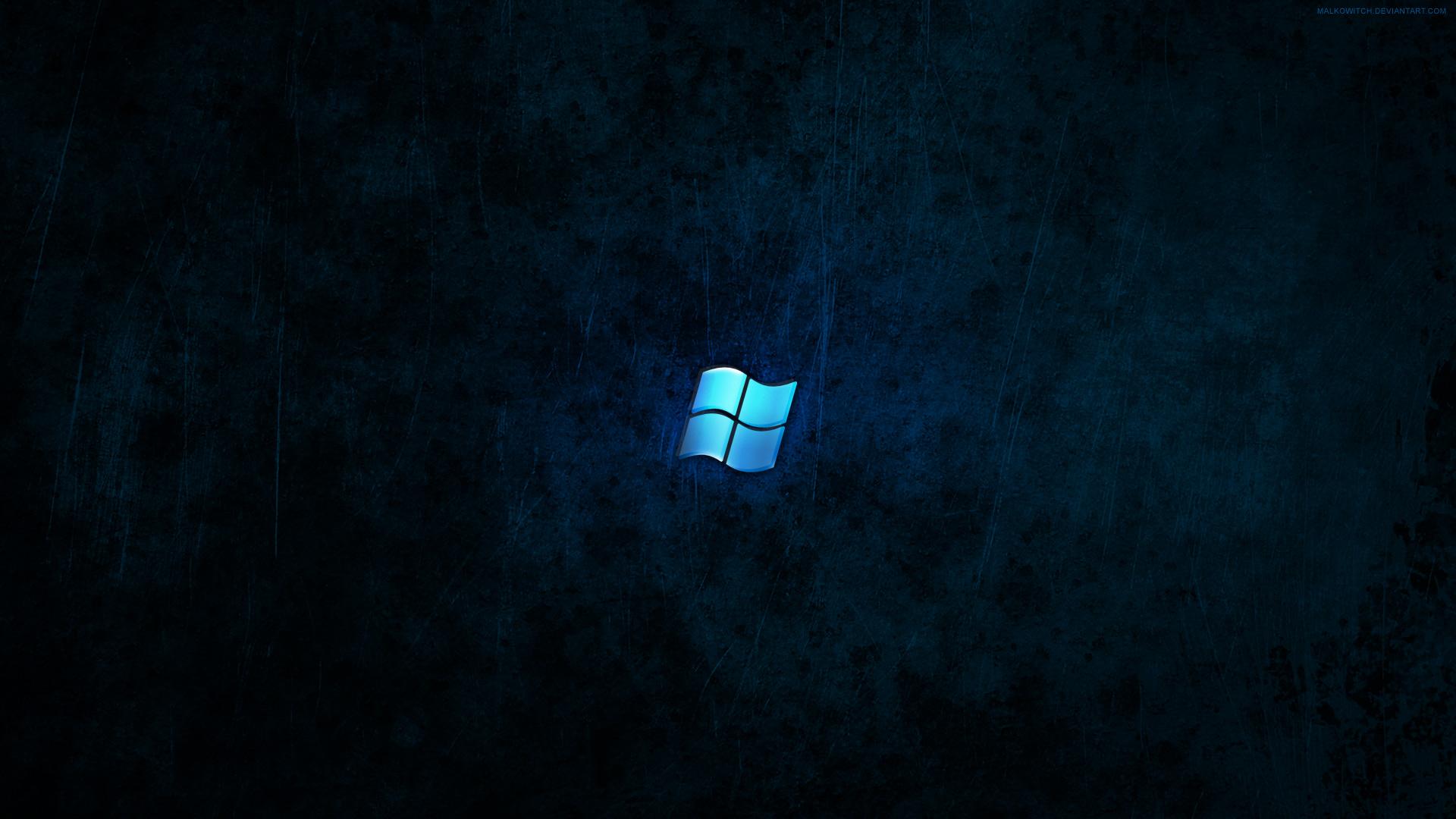 windows dark blue wallpaper by malkowitch customization wallpaper 1920x1080