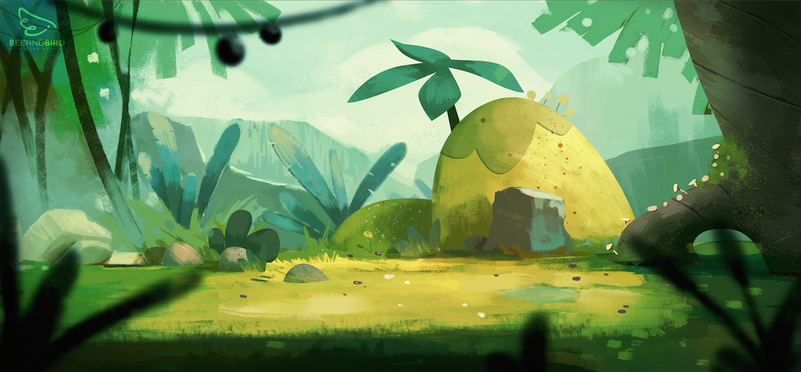 Game and Animation Backgrounds on Behance 1164x541