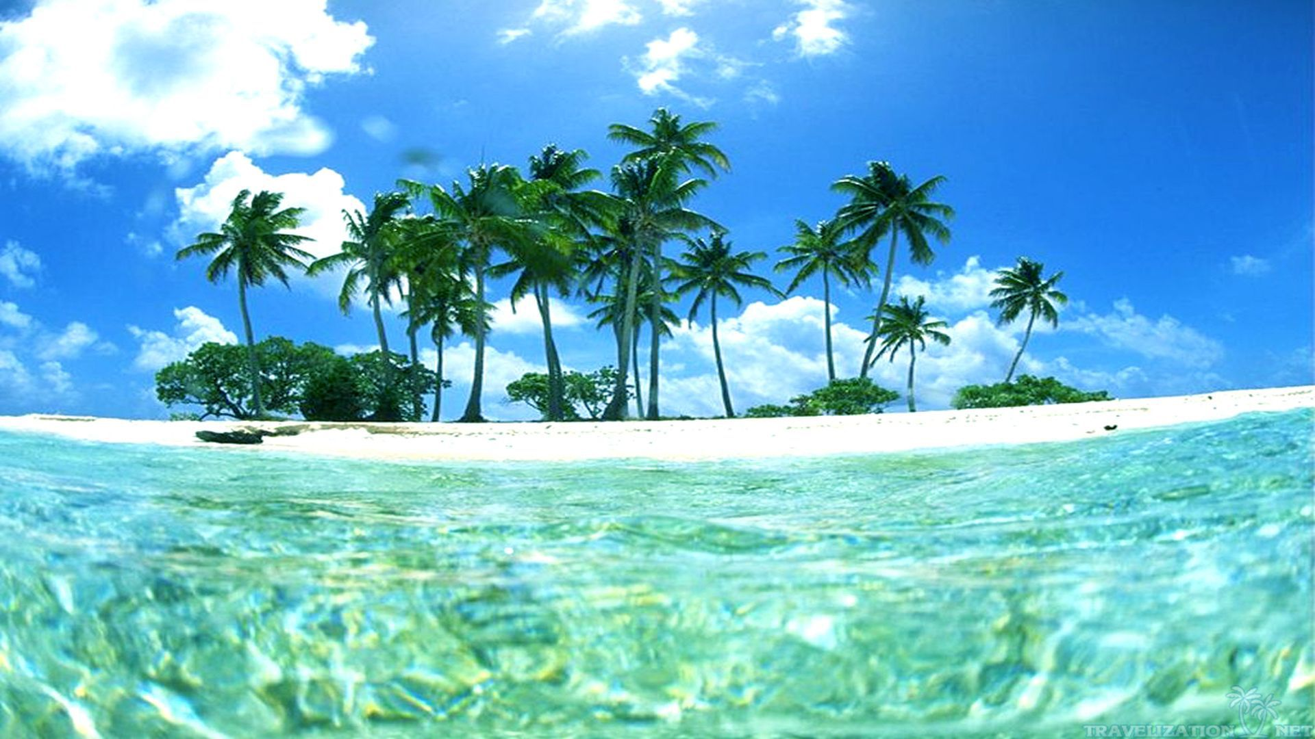 Beautiful tropical islands desktop wallpaper wallpapersafari for Beach wallpaper 1920x1080