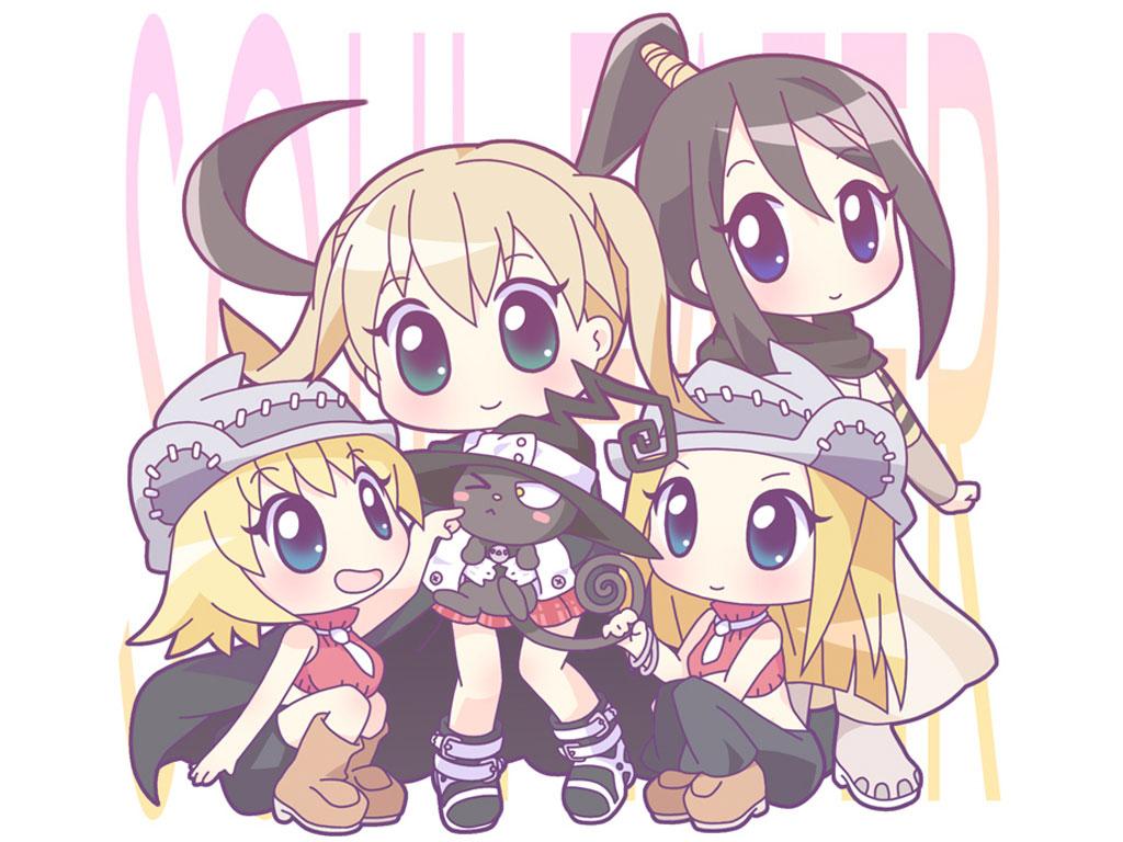 Chibi Soul Eater Girls Wallpaper   Soul Eater Anime Wallpaper 1024x768