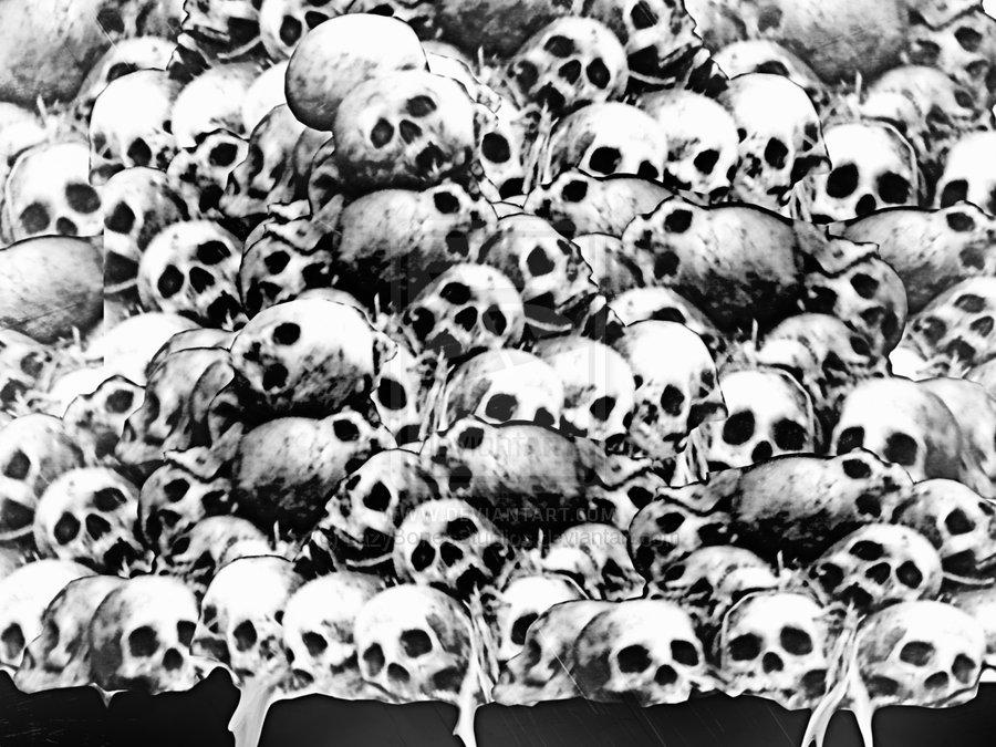imgarcade com pile of skulls sketch skull pile 021 by lazybonesstudios 900x675
