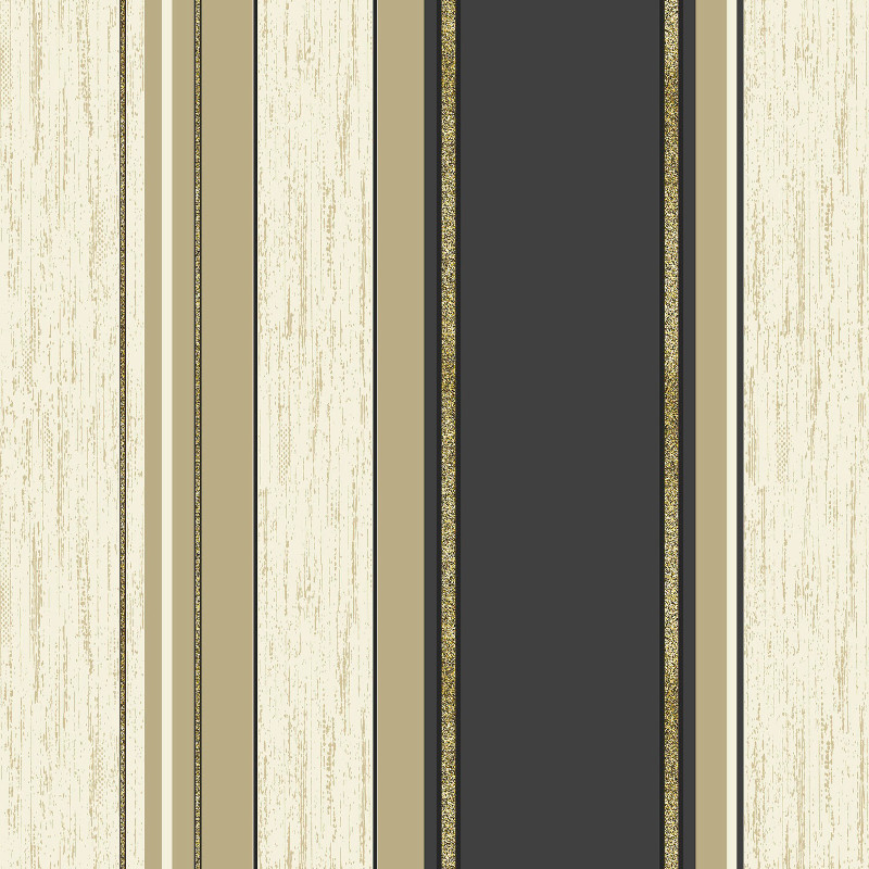 Vymura Synergy Glitter Stripe Wallpaper in Black and Gold   M0909 800x800