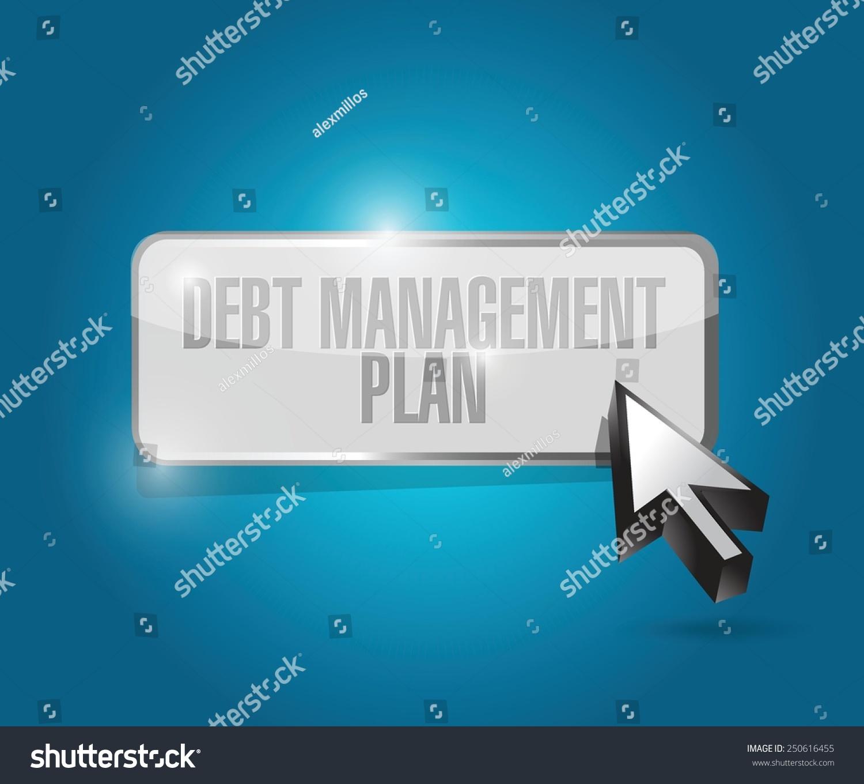 Debt Management Plan Button Illustration Design Stock Vector 1500x1360