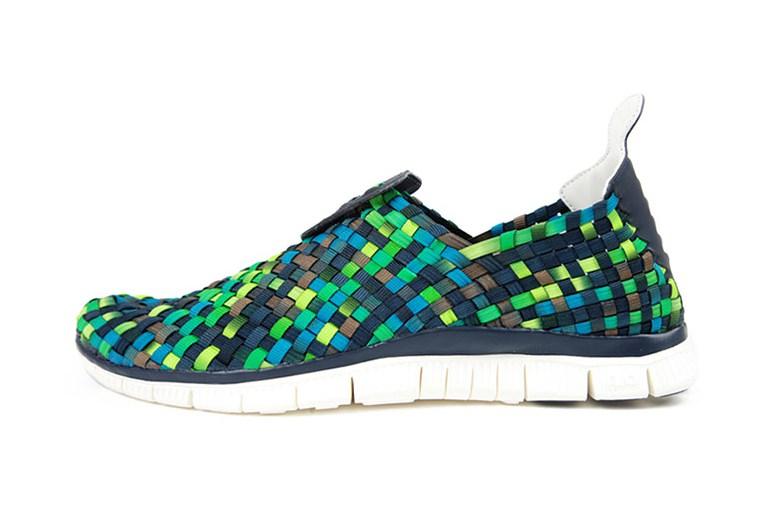 Image of Nike Woven 40 ObsidianSquadron Blue Smoke Poison Green 763x508