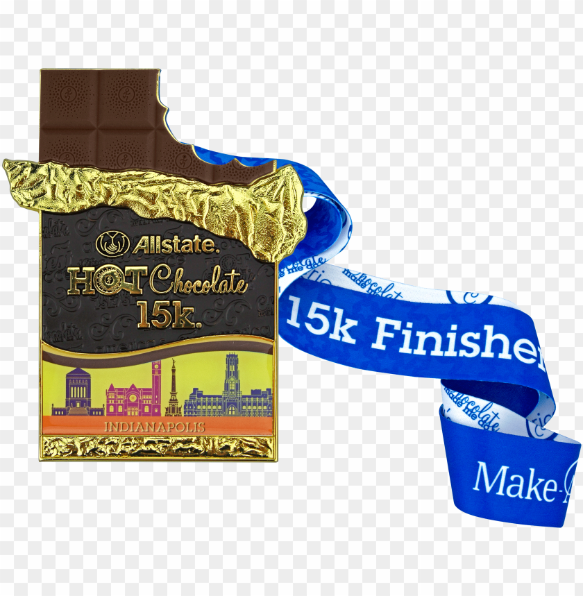 medal   allstate hot chocolate 15k 5k run minneapolis PNG image 850x675