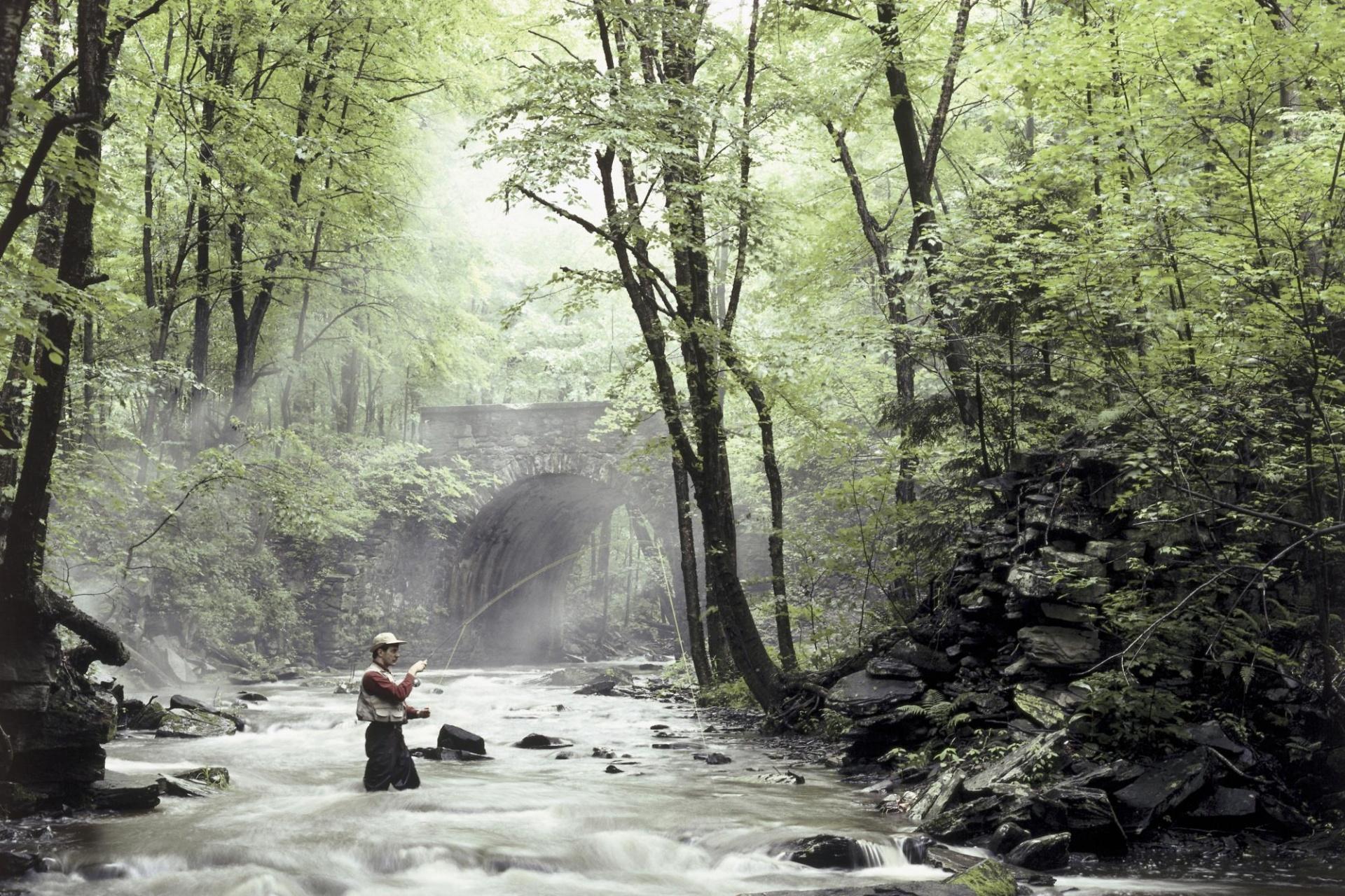1920x1200 Fishing in the river desktop PC and Mac wallpaper 1920x1280