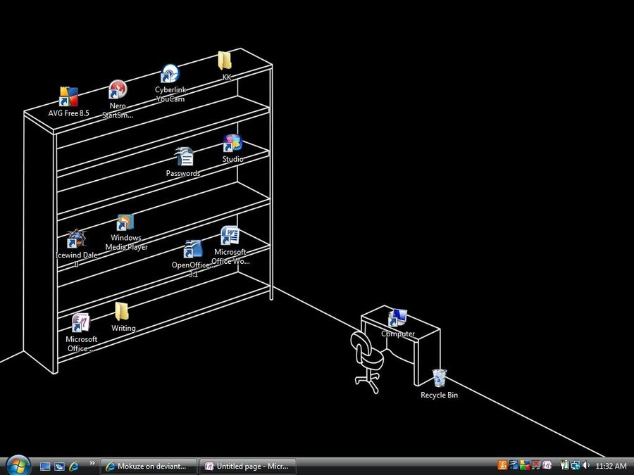 Best Desktop Ever Period by Mokuze 900x675