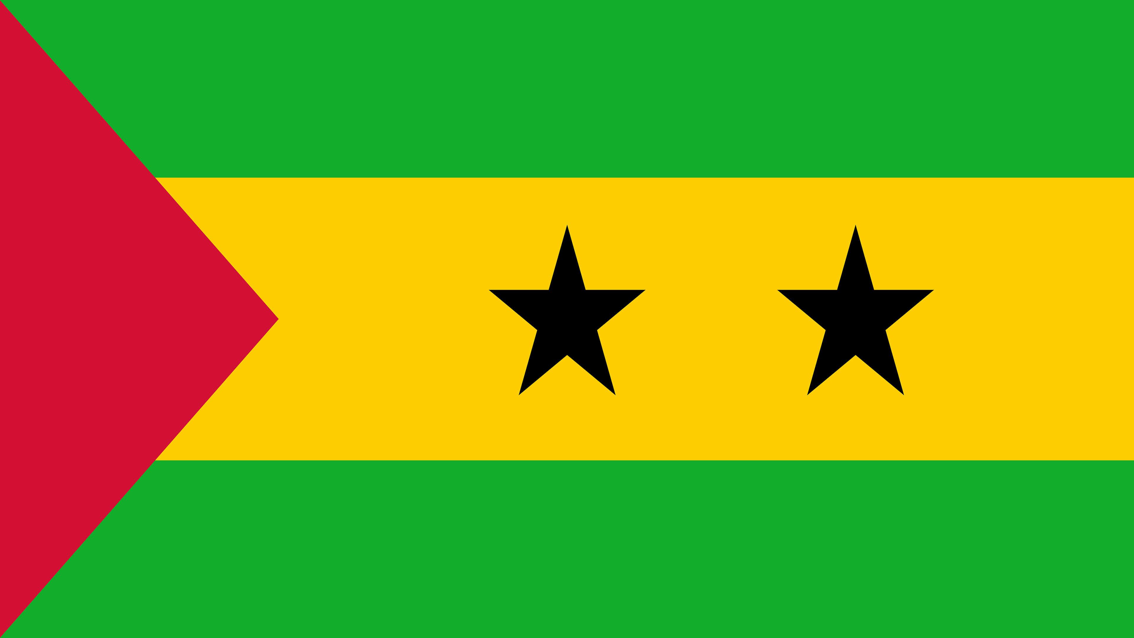 Sao Tome And Principe Flag UHD 4K Wallpaper Pixelz 3840x2160