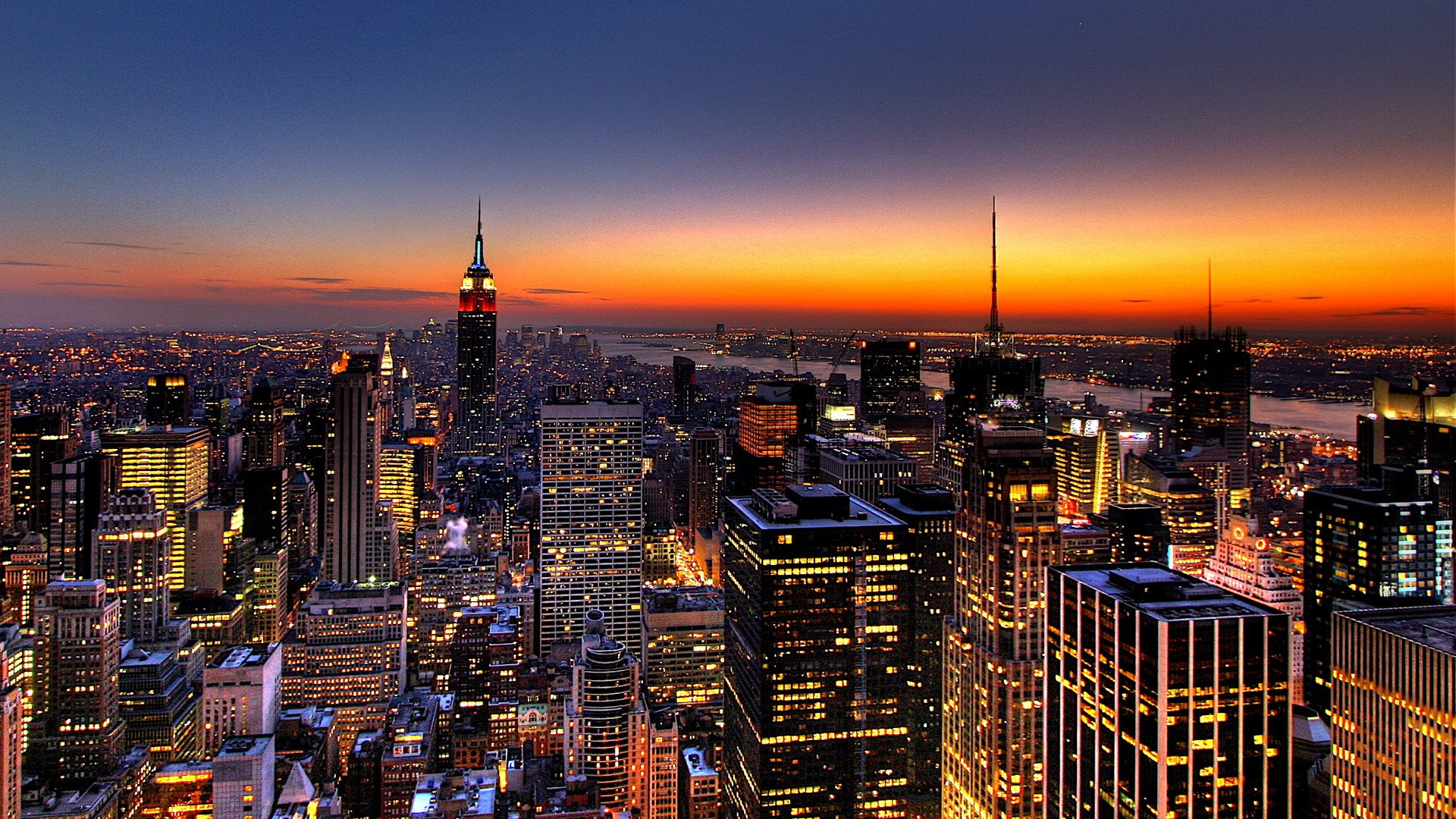 NYC Skyline Wallpaper at Night HD wallpaper background 1920x1080