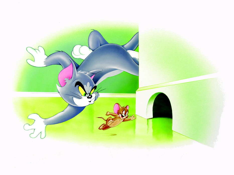 Download mobile wallpaper Cartoon Pictures Tom and Jerry 933x700