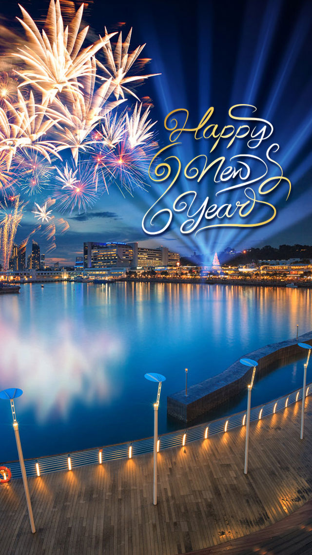 Download Happy New year HD Wallpapers for iPhone Play Apps For PC 640x1136