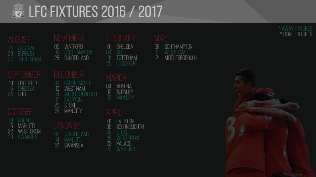 Empire of the Kop on Twitter Awesome 1617 fixture wallpaper 1101x617