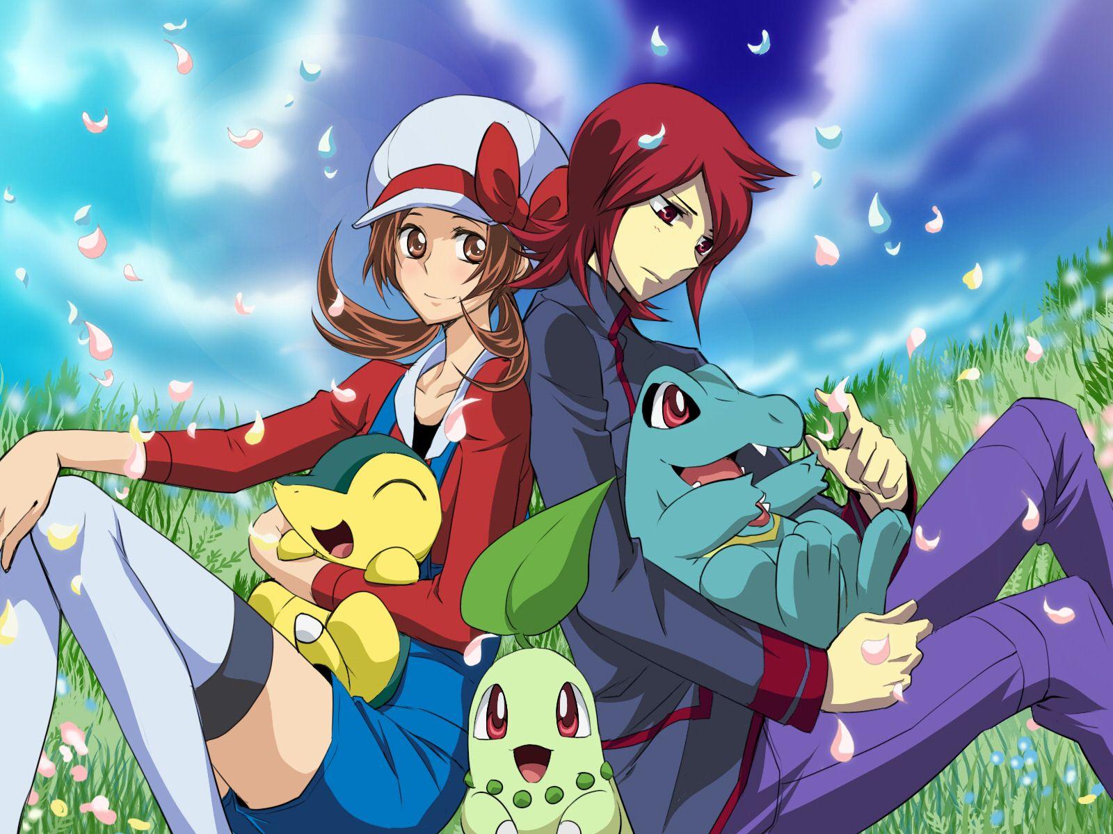 Anime Pokemon Cyndaquil Pokemon Chikorita Pokemon Totodile 1600x1200