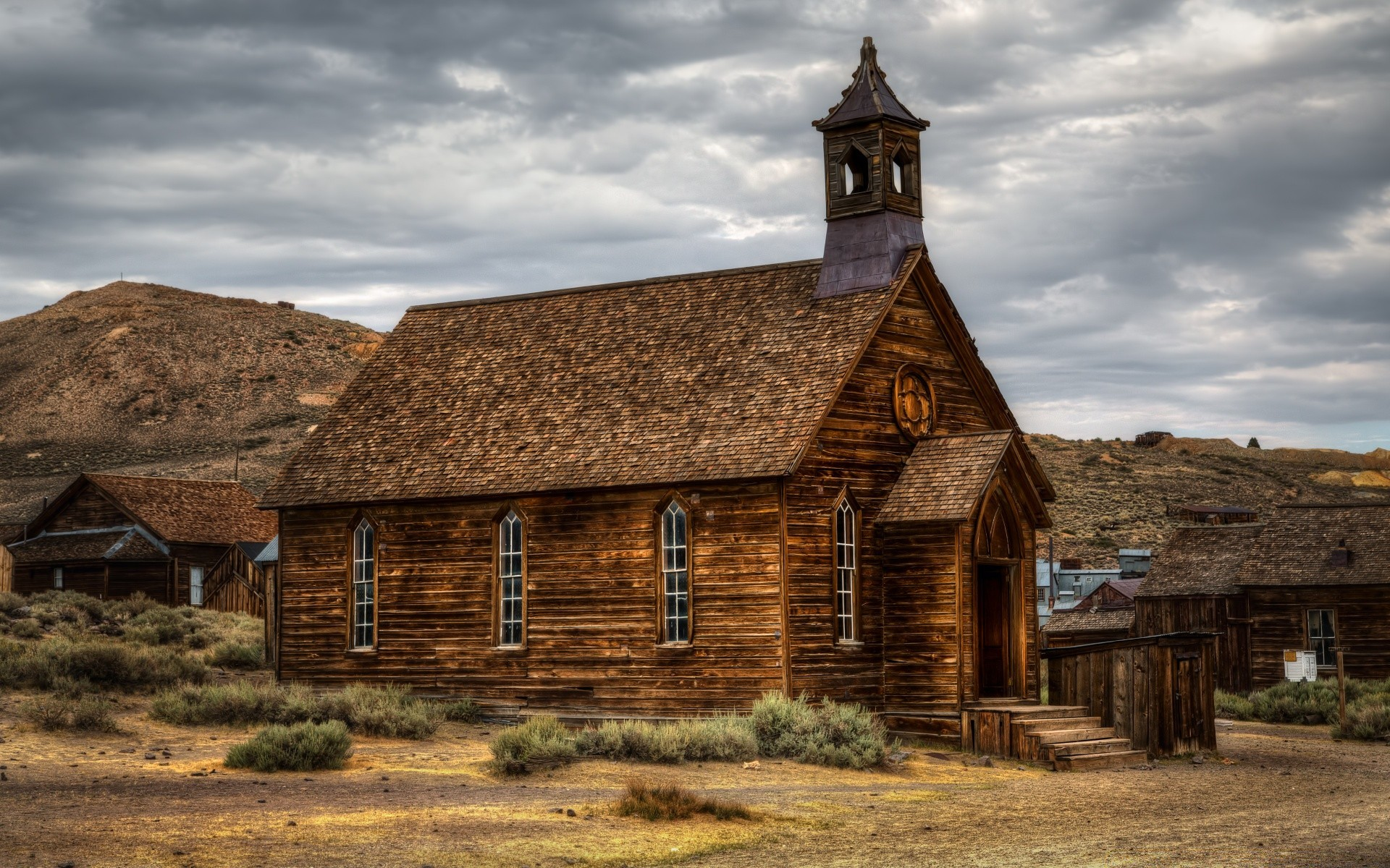 Church of Bodie   Phone wallpapers 1920x1200