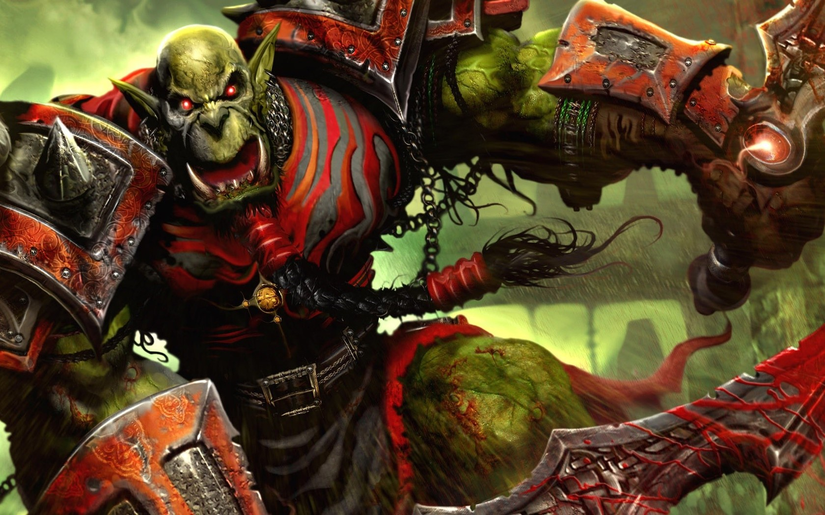 World of Warcraft orc wallpaper 9505 1680x1050