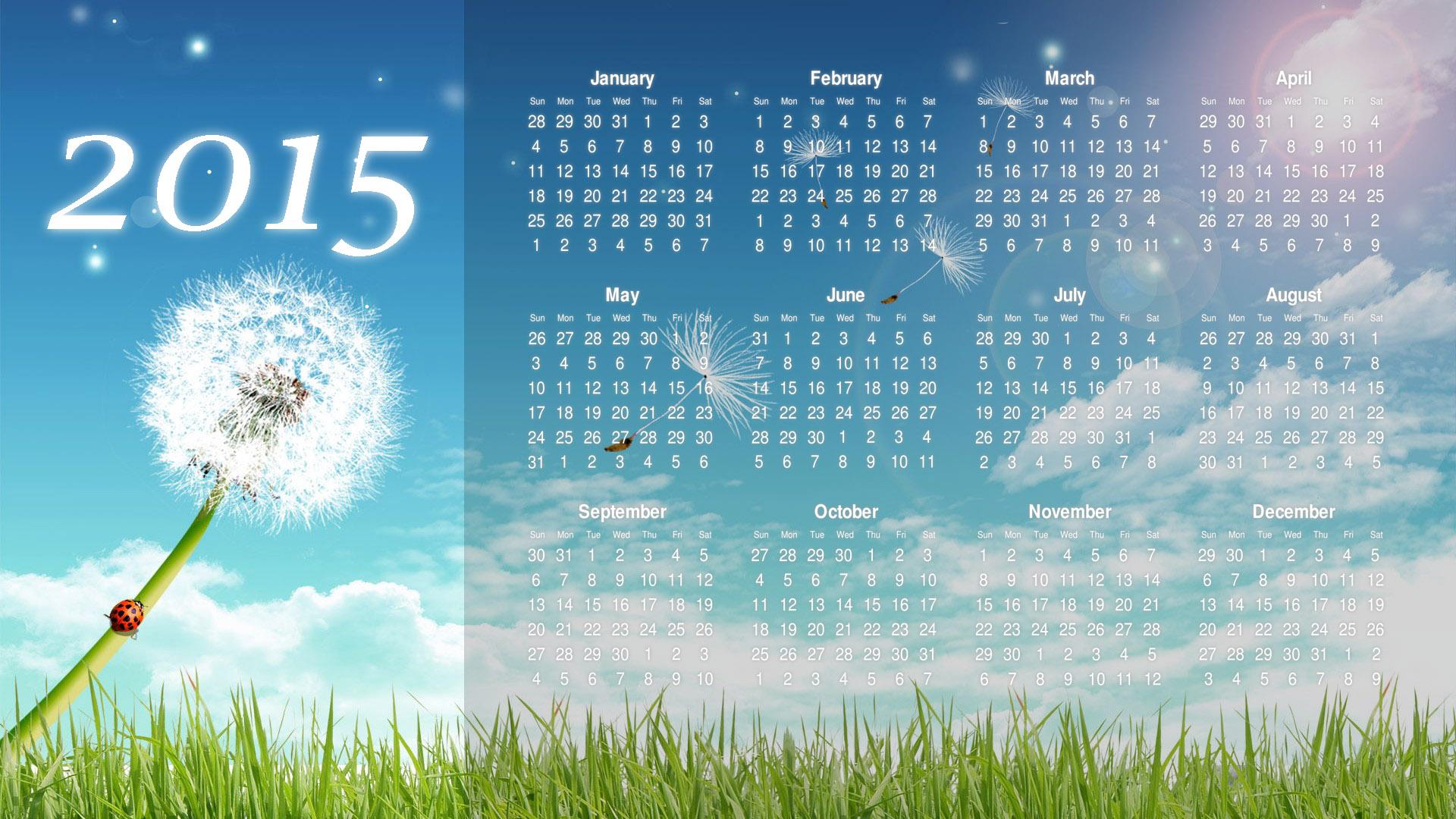 2015 Calendar HD Wallpapers Download Desktop Wallpaper Images 1920x1080