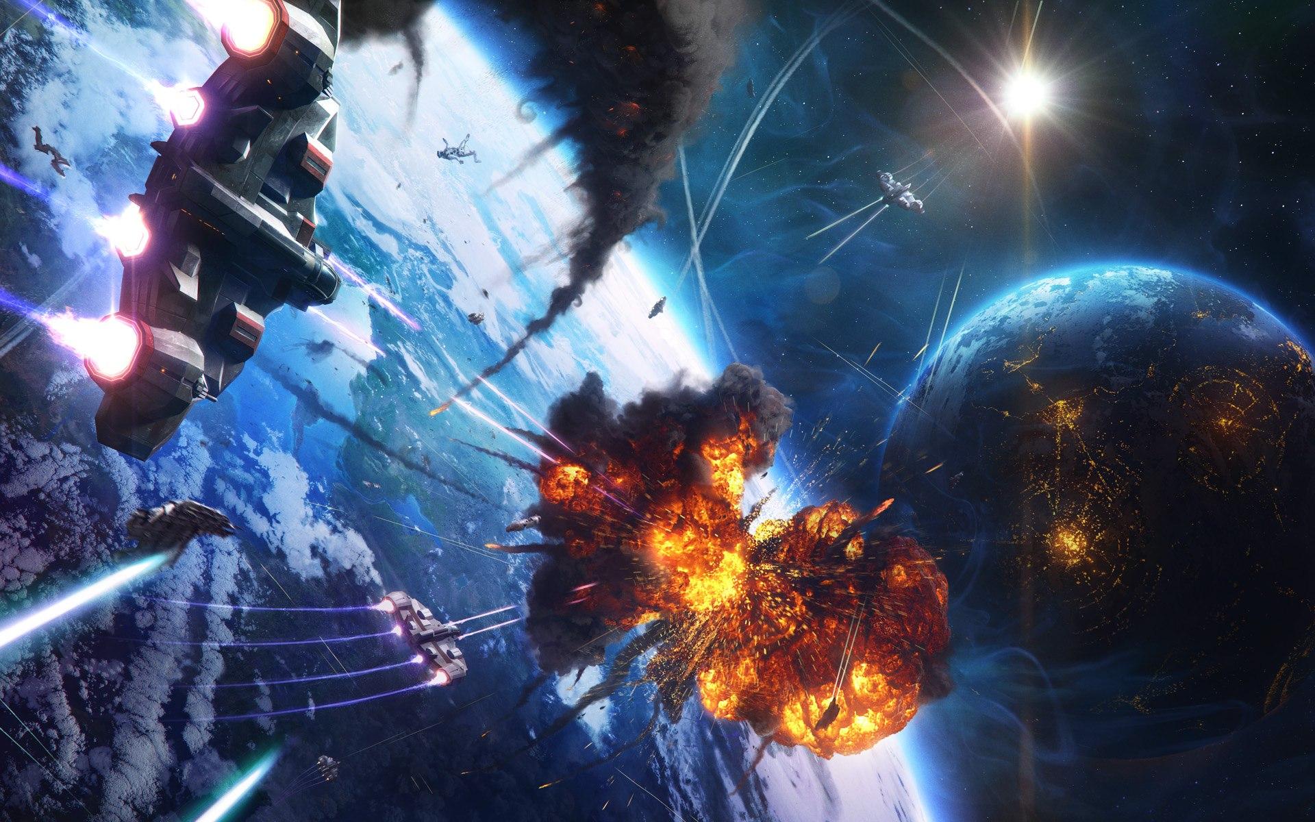 Amazing Sci Fi Space Battle Wallpaper HD 19 High Resolution Wallpaper 1920x1200