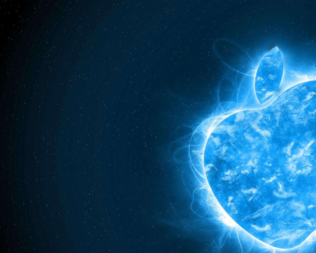Wallpaper Blue apple allgifgallery 1280x1024