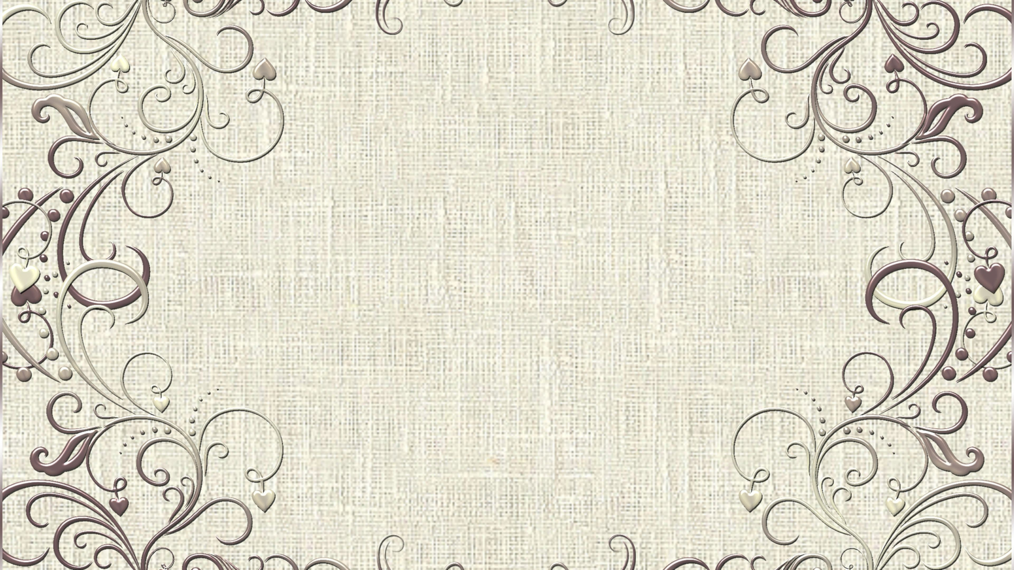 Fabric Design Vintage Pattern Frame WallpapersByte com 3840x2160 3840x2160