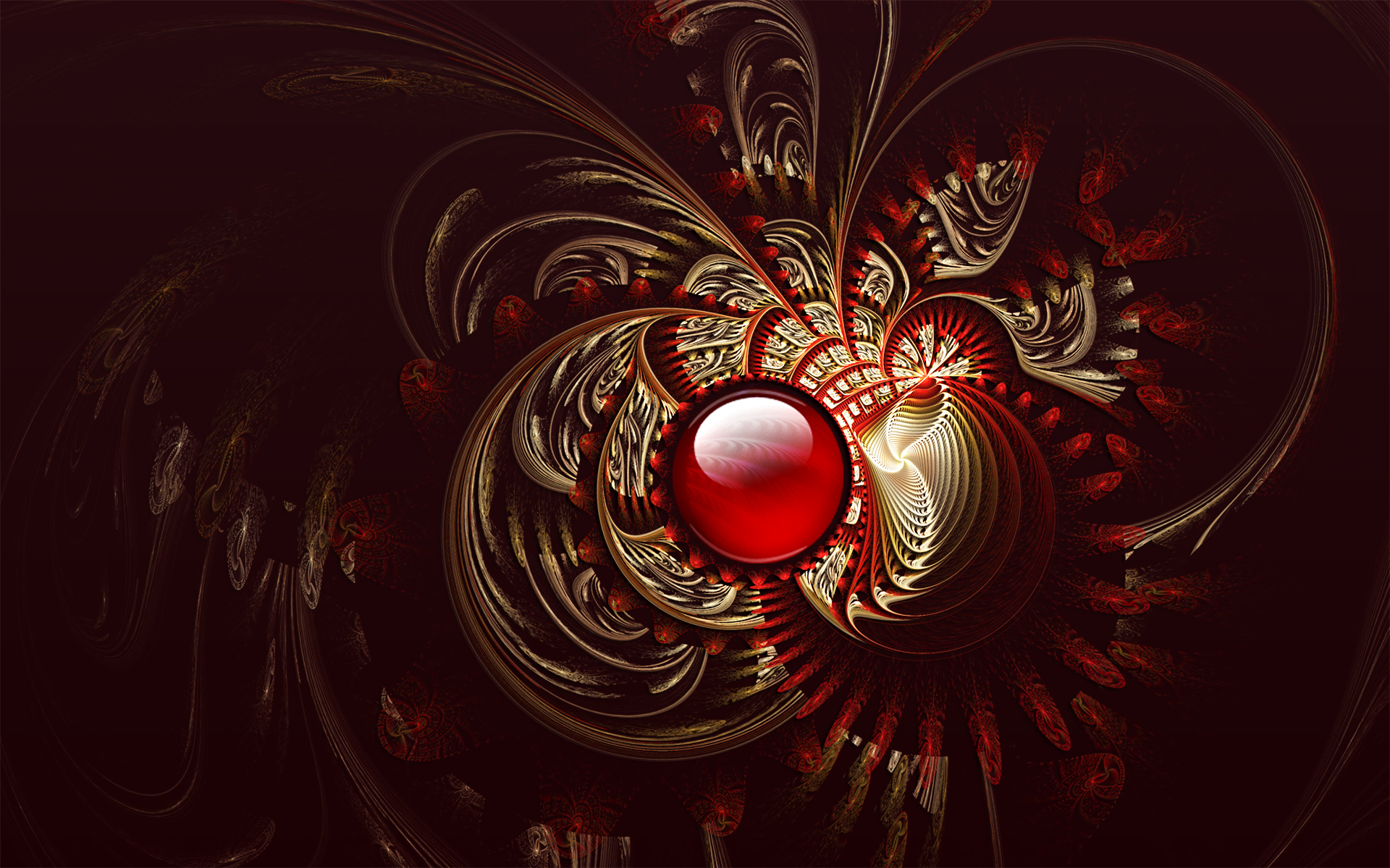 Red Brocade by Frankief 1920x1200