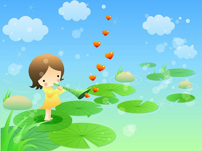 for Childrens Day   Childrens illustration   Song of Love24 700x525