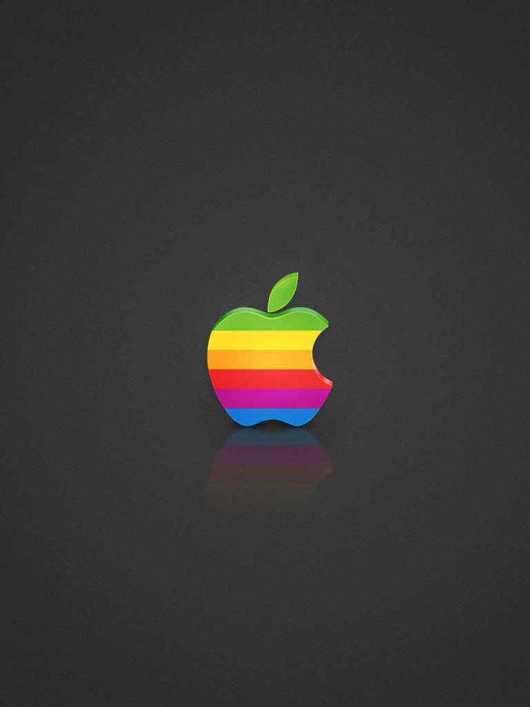 Colored Apple Logo for iPad Mini iPad Retina HD Wallpapers 768x1024