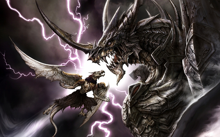 Badass Dragon Wallpaper Right
