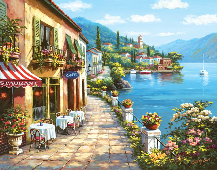 Overlook Cafe I Wall Mural by Sung Kim Italian Wallpaper 900x707