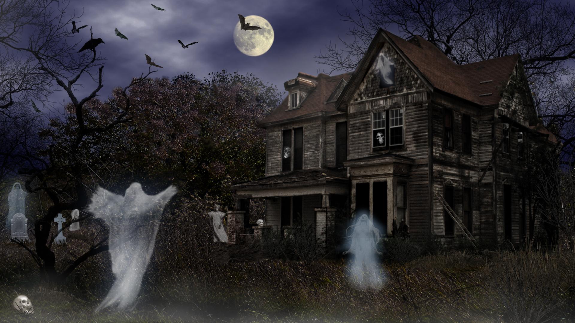 Screensavers Explore Haunted Mortuary Halloween wallpapers HD 1920x1080